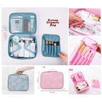 Tas Kosmetik Organizer Korean Style / Cosmetic Bag Sekat Make Up