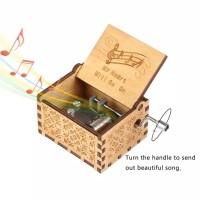 Kotak Musik My Heart Will Go On Wooden Music Box Kotak Musik