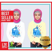 Kaos love Hijab / Kaos Anak Baju Muslim / Kaos Perempuan 8 14 Tahun
