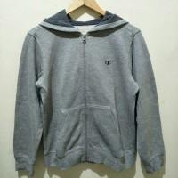 jaket zipper hoodie champion original abu2 cowo second