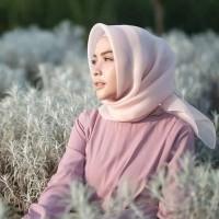 Jilbab/Hijab Segi Empat Organza Silk Premium