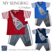 Baju Setelan Anak 6-24 bulan Bayi Laki-laki Atasan Kaos Celana Jeans