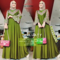 MILLATY - GAMIS MUSLIM DRESS PESTA DRESS BORDIR BAHAN ADEM