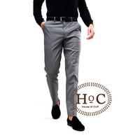 Celana Bahan formal Kerja pria Slim fit abu medium pants trouser - 30