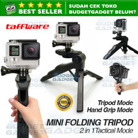 2 in 1 Portable Mini Folding Tripod for DSLR,GoPro,Xiaomi Yi