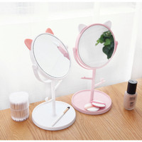 Kaca Rias Cermin Telinga Kucing Mirror Make Up Fashion Unik Lucu