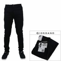 celana jeans pria cowok slimfit skinny pensil giordano hitam pekat