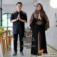 Baju Busana Muslim Gamis Couple Pria Wanita Alwa