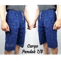 Celana Cargo pendek List Kotak Kasual - STD