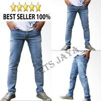 Jual Celana Panjang Jeans Pria Hitam Skinny Slimfit Panjang Pria Murah