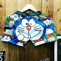 Jual Celan Pendek Pria Pria Doraemon Print - Celana Distro Murah Murah