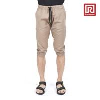 Jual Celana Jogger Pendek Pria Raf21 07909787- Abu-Abu Muda Murah