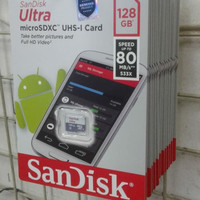 Sandisk Micro SD 128GB 80MBps MicroSD 128 GB 80 MBps Memory Card