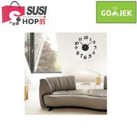 jam dinding Stiker Raksasa DIY Acrylic 30-50cm Diameter - B119