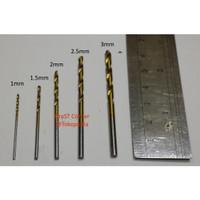5 Mata Bor Drill Kayu Plastik Akrilik Alumunium PCB 1/1.5/2/2.5/3 mm