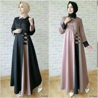 baju muslim wanita gamis maxi maxy lengan panjang - Visie long dress