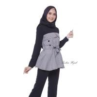 Baju Atasan Wanita alika top Blouse Baju Muslim - black