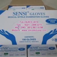 Produk Unggulan Sensi Gloves / Sarung Tangan Sensi Nitrile / Powder