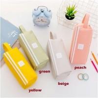 kotak pensil dan stationery Dual Zipper / dompet pensil 2 pouch