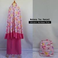 mukena anak unicorn tas ransel pink