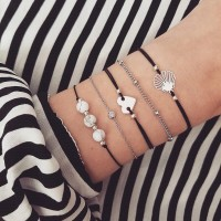 5pcs / set Bracelet Kristal