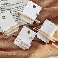 2pcs / set Jepit Rambut Pin Mutiara Bahan Metal