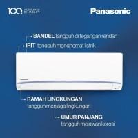 AC PANASONIC LN 7 UKJ + Pasang + Pipa 5 Meter + Braket