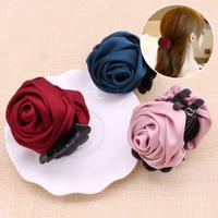 jepit klip cantik rambut wanita / rose hair clip band aksesoris