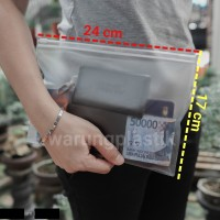 Map Plastik / Zipper Bag A5 / Tempat Pensil