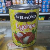 wilmond lychee canned 565gr wilmond leci buah leci kaleng