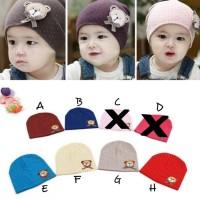 Topi Kupluk Anak Bayi laki-laki dan perempuan polka bear /Topi Anak