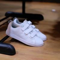 Sepatu Original Adidas Neo Advantage Strap White / Putih Cewek Wanita