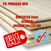 [CUCI GUDANG] BEST PRICE Triplek / Multiplek 8mm (Albasia) uk 60x120cm