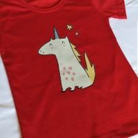 Kaos T-shirt Print Unicorn