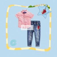 Kemeja Anak BowTie Dasi Celana Panjang Jeans AnnMee