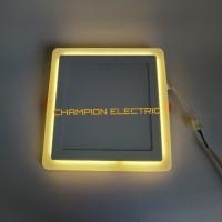 Lampu Downlight LED Panel 2 Warna Cahaya 18W+6 Watt KOTAK