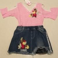 Best Price!! Setelan Jeans Anak Fashion Sabrina - 9361