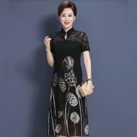 XL-4XL CG-07 Cocktail dress kerah cheongsam hitam midi gown gaun pesta