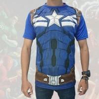 Kaos Full Print Captain Amerika Superhero Marvel Tees (KS CAP 13)