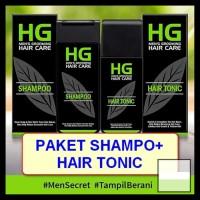 PAKET HG SHAMPOO   HAIR TONIC FOR MEN SHAMPOO 200 ML TONIC 125 ML