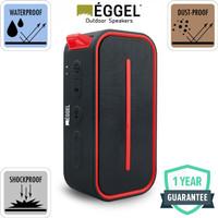 Eggel Active Waterproof Portable Bluetooth Speaker - Merah