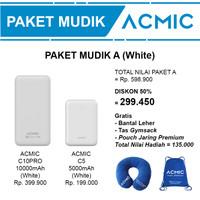 Paket Mudik A (ACMIC C10PRO 10000mAh + C5 5000mAh Power Bank)