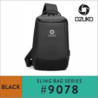Ozuko Sling Bag #9078 - Black