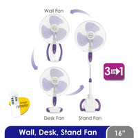 Cosmos 16-S088 - Kipas Angin / Fan 3in1 16 inch (Wall, Desk, Stand)