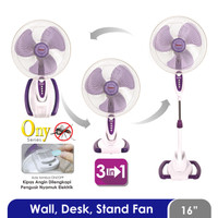 Cosmos WADESTA 16-S033 ONY - Kipas Angin 3in1-16 inch Wall,Desk,Stand