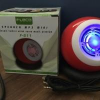 jual Speaker MP3 Mini PEMUTAR MUSIK dari USB MEMORI AUX merk Fleco