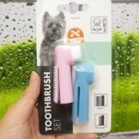 Sikat gigi anjing. Bioline tooth brush set. Finger brush