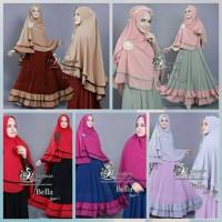 Gamis Syari | Bella Syari'i set - 8 pilihan warna | Pakaian Muslim