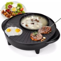 Alat Panggang Teppanyaki Steamboat BBQ & Grill Hot Pot Elektrik
