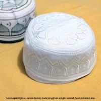 Unik Songko / Peci Putih Bordir All Size - Putih Murah